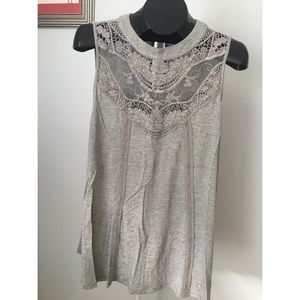 Gray Sleeveless Shirt
